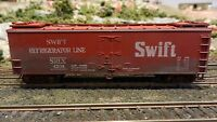 Train Miniature HO Swift Wood Reefer, Upgraded, Weathered,  Exc.