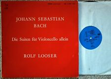 VERY RARE ROLF LOOSER BACH CELLO SUITES 1 & 5 SWISS ONLY STEREO LP NM