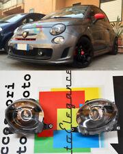 FARI ANTERIORI LENTICOLARI FANALI FIAT 500 2007+ DESIGN SPORTIVO BLACK NERI