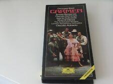 Georges Bizet Carmen Claudio Abbado 3 Music Cassettes DGG & Booklet Complete