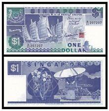Singapore $1 1987 Ship (PERFECT UNC), Goh Keng Swee B/22 207207 Nice Number
