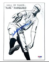 Rube Marquard Rare Psa/dna Authenticated Signed 8x10 Photo Autograph