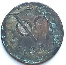1792 VOC NEW YORK PENNY DUTCH EAST INDIES TREASURE SPICE COIN 1792