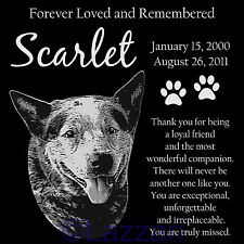 Personalized Australian Cattle Dog Red Blue Heeler Pet Memorial 12x12 Headstone