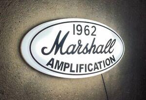 MARSHALL AMPLIFICATION LED ILLUMINATED LIGHT UP WALL SIGN MUSIC ROOM INSTRUMENT