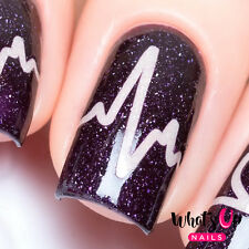 Heartbeat Stencils for Nails, Valentine's Day Nail Stickers, Nail Vinyls