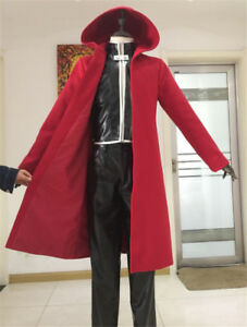 Anime Fullmetal Alchemist Edward Elric Full Set Cosplay Costume Red Coat Unisex