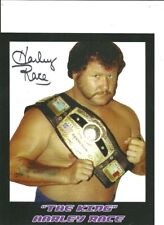 King Harley Race Autographed 8x10 Signed Personal Promo Photo w/ NwA World Title