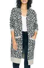 MSRP $149 Women's Sanctuary Cat's Meow Leopard Print Cardigan, Black Size 2XL