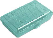 Sterilite Plastic Pencil Case - BLUE - 6 Pack-OPEN BOX