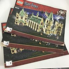 LEGO Harry Potter Hogwarts castle 4842 Manual Instructions Only books 1 2 3