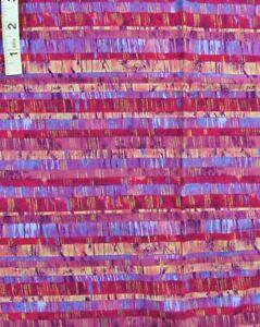 Lavender,Reds,Blue,Pink Striped Print,Gold Foil Cotton Quilt Fabric,Peter Pan