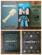 MINECRAFT Steve Figure With Helmet & Sword And Special Edition Annuals & Books