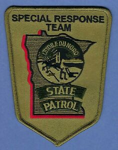 MINNESOTA STATE PATROL POLICE SPECIAL RESPONSE TEAM SHOULDER PATCH