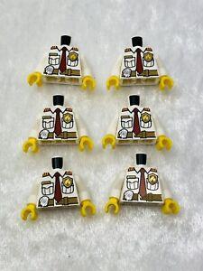 Lego City Policía prisión preso Blanco Minifigura torso parte del cuerpo