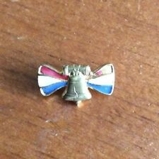 Vintage Antique Liberty Bell Patriotic Red Whit Blue Pin