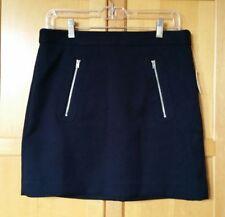 Gap Women's Mini Skirt Size 6 Navy Blue Exposed Zippers  NWT. Originally $50.