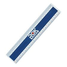 "ROK HARDWARE MEASURING PLASTIC FLEXI 6"" EASY READ ENGLISH METRIC 150 MM RULER"