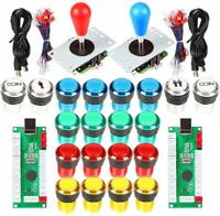 Arcade Kit 2 Player Arcade Joystick to PC Full Colors Coin Buttons Raspberry Pi