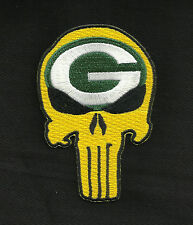 Packers Punisher Skull Rockabilly Motorcycle Biker Patch - Iron ON