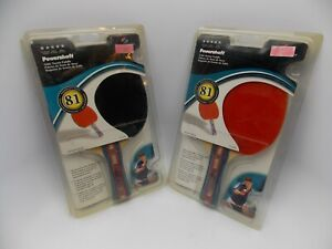 Sportcraft Powershaft Ping Pong Table Tennis Paddles Red/Black  81 Perf. Rating