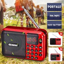 Portable Digital FM Radio Receiver Mini Speaker MP3 Music Player USB TF  US