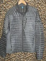 Eddie Bauer Small gray ultralight First Ascent Microtherm Goose Down jacket