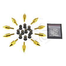 10x Gold Spike Windscreen Fairing Bolts 5mm Set Yamaha YZF R6 R6S R1 FZR FJR