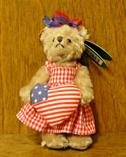 Bearington Plush Ornaments #3685 IMA PATRIOT, NEW w tag From Retail Store 4.5""