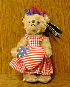 "Bearington Plush Ornaments #3685 IMA PATRIOT, NEW w tag From Retail Store 4.5"""