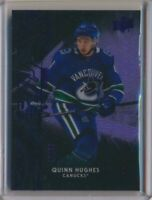 2019-20 UD Black Obsidian Rookies Quinn Hughes /99 Vancouver Canucks