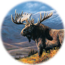Bull Moose Coaster by Rosemary Millette Set of 4 Round Heat Water Resistant