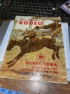 1968 Sidney Iowa Rodeo Program Doc & Festus Guest Stars 45th Championship