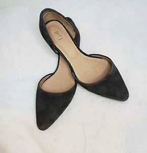 J.Jill Brown Suede/Leather Dorsay Pointed Toe Flats Shoes Size 7 EUC