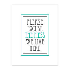 Home Mess Excuse White Canvas Wall Art Print