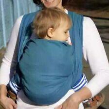 New Leo Turquoise Storchenwiege Wraparound Baby Carrier Cotton Size 5.2 OPEN BAG