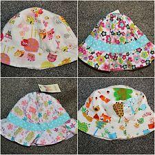 Baby Girls Boys Cotton / Linen Pretty Print Summer Holiday Hat Hats Caps Bonnet