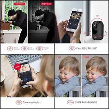NEW Full HD 1080P WiFi IP Camera, 2MP Indoor Pan/Tilt Home Security Camera BLACK