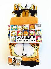 Nouveau Garfield the cat 3 Paire De Chaussettes Femmes Chaussettes 37 - 42 socks Chat Primark