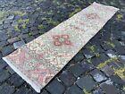Carpet, Turkish rug, Vintage rug, Handmade rug, Runner, Wool   1,5 x 6,0 ft