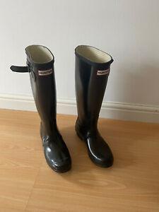 Hunter Wellies Black Size 4 UK