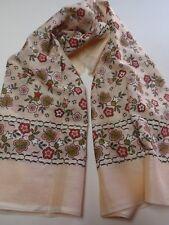 Vintage Silk Cotton Blend ladies Headscarf Dogacan Yikanmis Turkey Pink Floral