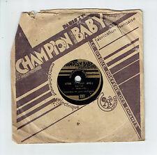 78T 15 cm Jean VAISSADE Accordéon Disque Phonographe BAVOSSE -CHAMPION BABY RARE