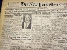 1949 JUNE 7 NEW YORK TIMES - CHAMBERS NAMES 2D U. S. EMPLOYEE AS SPY - NT 1508