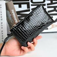 Crocodile Leather Clutch Handbag Bag   Card Phone Women Purse  Wallet