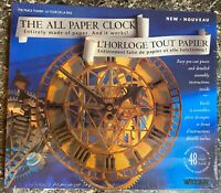 Wrebbit The All Paper Clock 3D Model Kit Puzzle 1993 The Peace Tower Sealed New