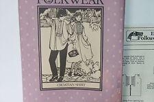 Vintage Folkwear Sewing Pattern Croatian Shirt Mens Womens Dress #117 1982 S-XL