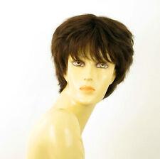 Perruque femme 100% cheveux naturel châtain ref SYLVIE 6