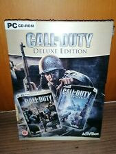 CALL OF DUTY/NEW SEALED!! Deluxe edition. 2 juegos para pc. Nuevo sin abrir.