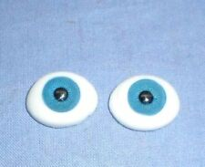 "pair of acrylic glass eyes blue lensshape 21 x 16 mm / 0.81"" x 0.65"""